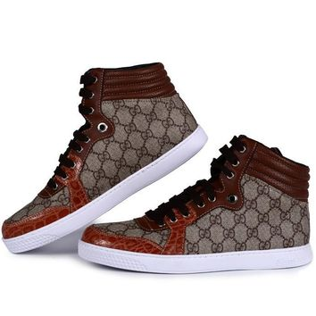 GUCCI Women Men Flats Sneakers Sport Shoes Boots Shoes-1