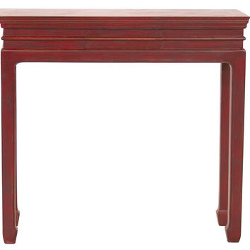 "Faustino 35"" Console, Red, Console Table"