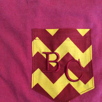 BC Embroidered Chevron Pocket Tank or T-Shirt