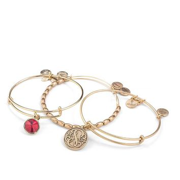 Hint Of Red Bangle Stack