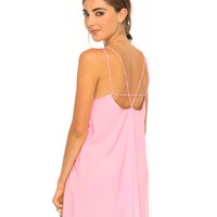 Vince Strappy Slip Dress in Dusky Pink By Motel