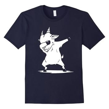Dabbing Goat Pet T-Shirt Funny Animal Dab Dance Gift Shirt