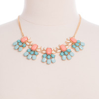 Pastel Please Necklace, Mint/Peach