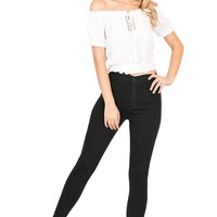 Unlimited High Waist Ankle Skinnys