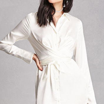 Satin Wrap Shirt