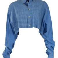 Reworked Vintage Dior Cropped Button Down