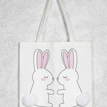 Bunny Graphic Tote - 1000104605 - Forever 21 Canada English