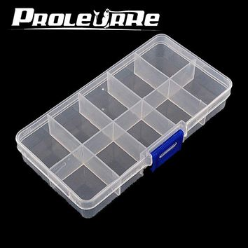1Pcs High Strength 6.4*3*2.4cm Plastic Fishing track Box with 10  Compartments convenient Fishing Lure Tackle Boxs PJ-267