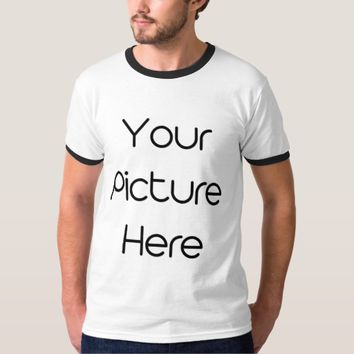 Create Your Own Custom Men's Basic Ringer T-Shirt
