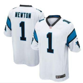 PEAP1N Nike Panthers #1 Cam Newton White Men's Stitched NFL Elite Jersey