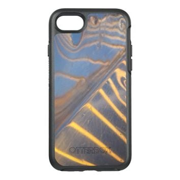 abstract blue, yellow and silver metal reflection OtterBox symmetry iPhone 7 case