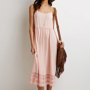 Crochet-Trimmed Maxi Dress