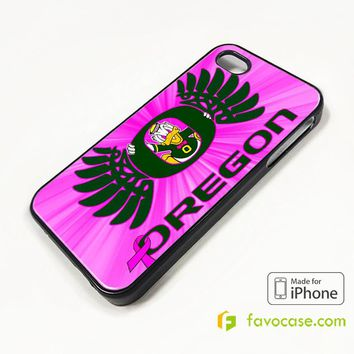 NEW PINK GIRLS OREGON DUCKS COLLEGE iPhone 4/4S 5/5S/SE 5C 6/6S 7 8 Plus X Case Cover