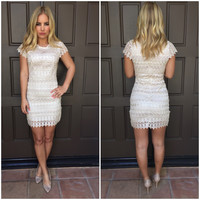 Nude Canvas Crochet Dress