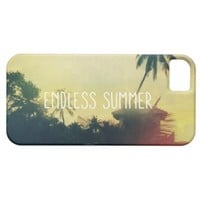 Yellow Cool Vintage Summer Beach Sunset Photo iPhone 5 Cover