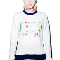 Joyrich Rich Sports Long Sleeve Crew Off White