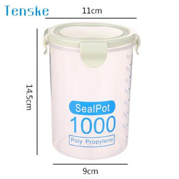 Storage Jars Plastic Sealed Cans Kitchen Storage Box Transparent Food Canister Keep Fresh Jar organizer