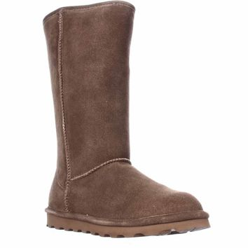 Bearpaw Elle Tall Shearling Lined Water Resistant Winter Boots, Hickory, 5 US / 36 EU
