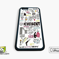 Divergent Collage Word iPhone Case 4, 4s, 5, 5s, 5c, 6 and 6 plus by Avallen