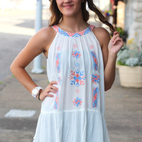 Puerto Rico Embroidery Tank {Off White}