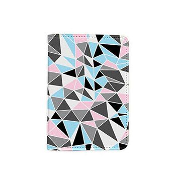 Polygon Leather Passport Holder - Passport Protector - Passport Cover - Passport Wallet_Mishkaa