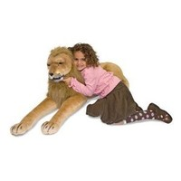 Amazon.com: Melissa & Doug Huggable Plush Stuffed Lion: Toys & Games