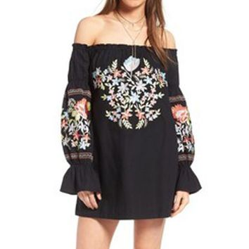 Maya Floral Crochet Mini Dress