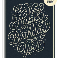 Birthday To You Shot Glass Bottle Hanger Card