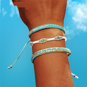 Beads Weave Rope Friendship Bracelets For Woman