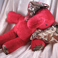 RED WINE Burgundy ELEPHANT - soft toy home decor stuffed plush Animal - designed and made in Berlin-Germany