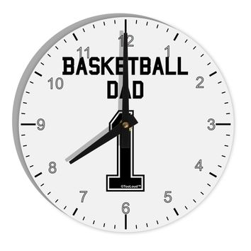 """Basketball Dad Jersey 8"""" Round Wall Clock with Numbers by TooLoud"""