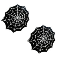 Freaking Awesome Glitter Blacklight Spider Web Pasties