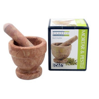 Red Marble Mortar & Pestle