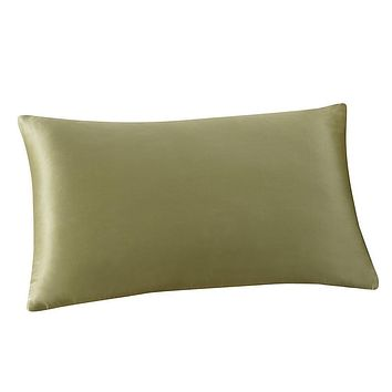 Rectangle Cushion Cover Silk Throw Pillow Case Pillowcase