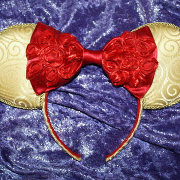 Princess Belle Inspired Mouse Ears Headband