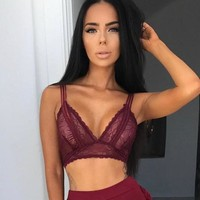 Cute Hot Deal On Sale Sexy Summer Hot Sale Hollow Out Lace Women's Underwear Exotic Lingerie [50106630159]