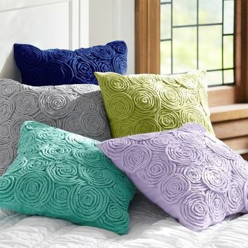 Rose Twist Pillow Covers