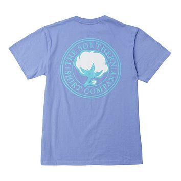 Signature Logo Tee in Cornflower Blue by The Southern Shirt Co.