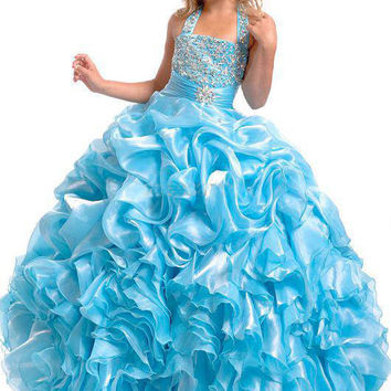 Flower Girls Pageant Dresses Ball Gown Floor Length Quinceanera Summer Dress Little Girls Pageant Dresses Kids Evening Gowns
