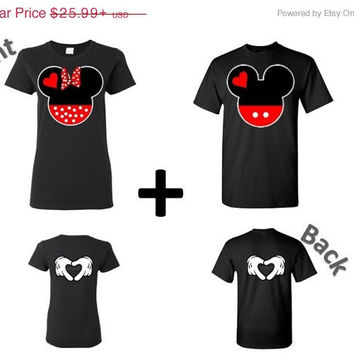 Mickey and Minnie Couples Matching Shirts Tshirt Inspired Disney.Perfect gift for her ,for him ,soulmate and Mr and Mrs.Valentines Day.