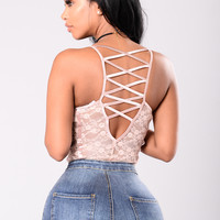 Fell For You Bodysuit - Dusty Pink
