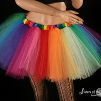 Over the Rainbow extra poofy tutu skirt Adult - You Choose Size by Sisters of the Moon