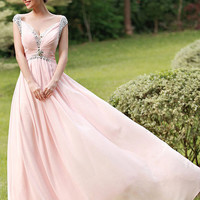 Long prom dress - Pink prom dress / long bridesmaid dress / pink evening dress / pink party dress /  pink homecoming dress