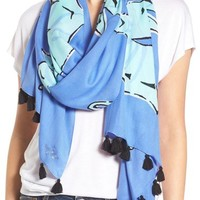 kate spade new york 'seahorse' print scarf | Nordstrom