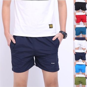 Thin Summer Men's Outdoor Sports Shorts Pure Cotton Trunks  Beach Pants High Quality Cloth Inner Gallbladder Loose, Tether
