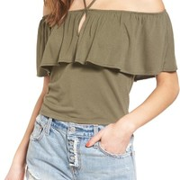 BP. Off the Shoulder Ruffle Crop Top | Nordstrom