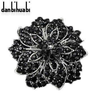 New Fashion Multicolor Vintage Style  Multicolor Pins Brooches Crystal Rhinestone Brooch For Women Wedding Dress Low Price