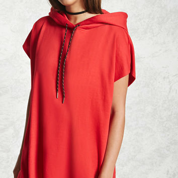 Raw-Cut Hooded Dress
