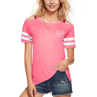 Cold Shoulder Raglan Tee - PINK - Victoria's Secret