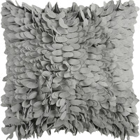 Surya Claire Throw Pillow Gray
